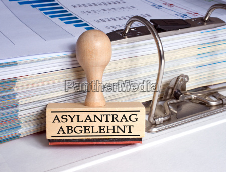 asylum application rejected stamp in the