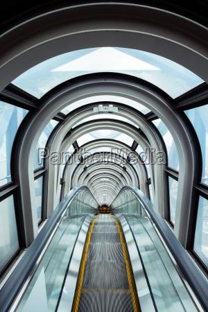 escalator in modern building