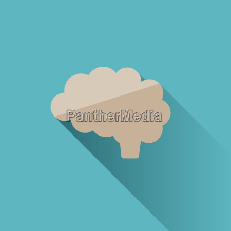 brain icon with shade on blue