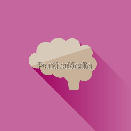 brain icon with shade on pink