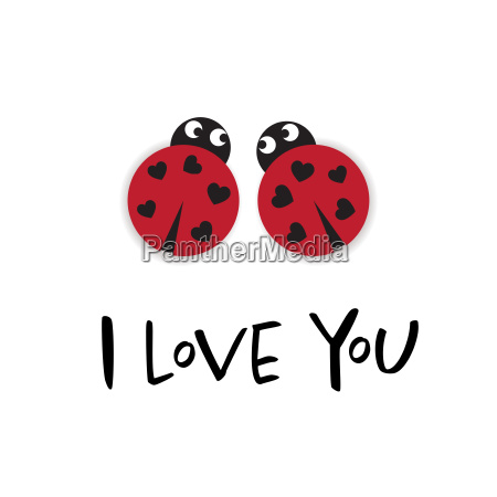 i love you card with two