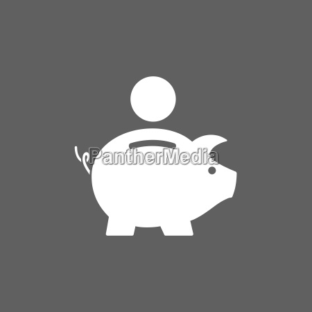 piggy bank icon on dark background