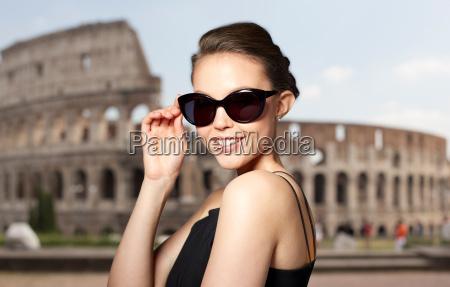 beautiful young woman in elegant black