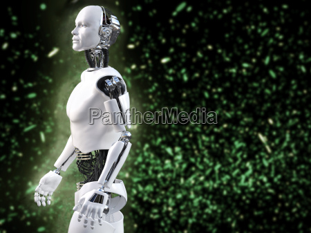 3d rendering of male robot with
