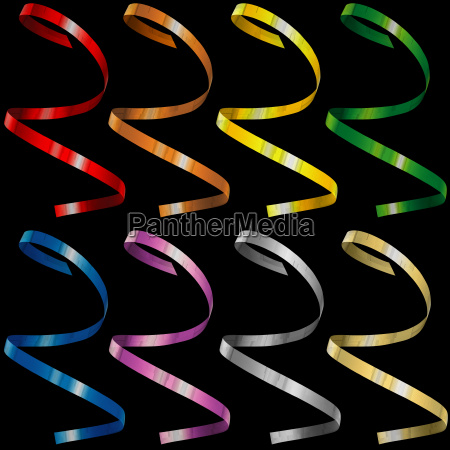colorful curly confetti