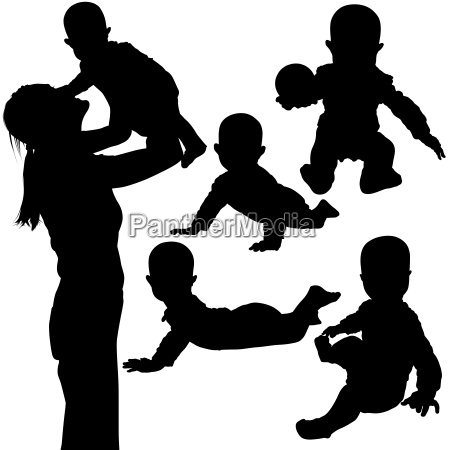 silhouetted baby games