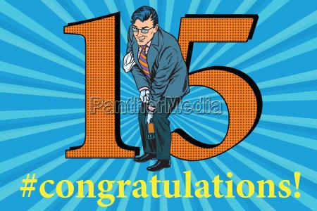 congratulations, 15, anniversary, event, celebration - 20102230