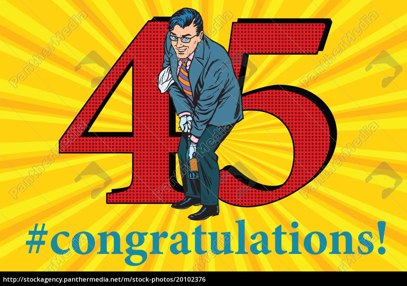 congratulations, 45, anniversary, event, celebration - 20102376