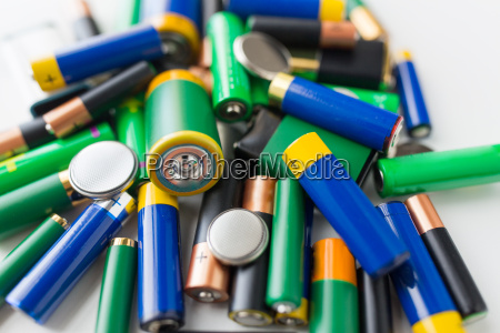 close up of alkaline batteries
