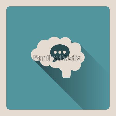 brain, thinking, in, a, conversation, illustration - 20109670