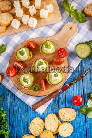 homemade, bruschetta, with, salted, feta, cheese - 20114960