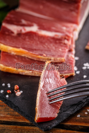 sliced, smoked, pork, meat - 20114958