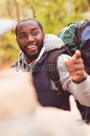 young, smiling, man, backpacker - 20114908