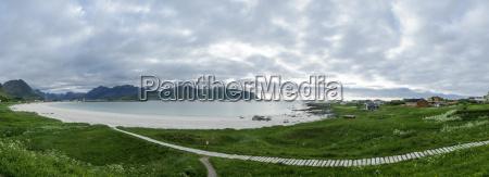 ramberg beach in flakstad lofoten islands