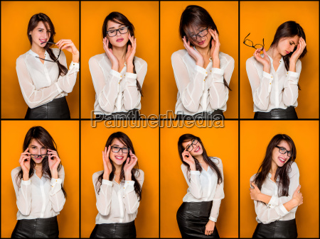 the, young, woman's, portrait, with, happy - 20115945