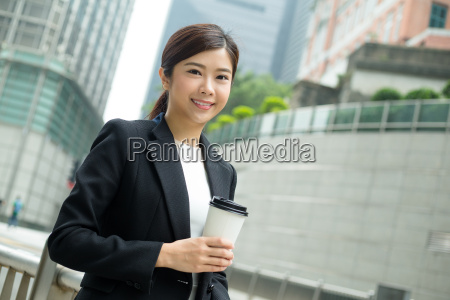 asian, business, woman, hold, with, coffee - 20116229