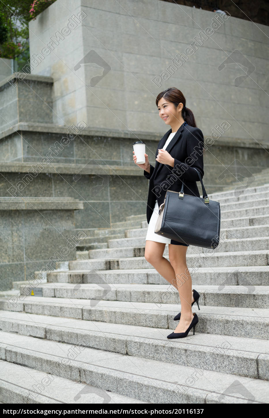 businesswoman, leaving, office - 20116137