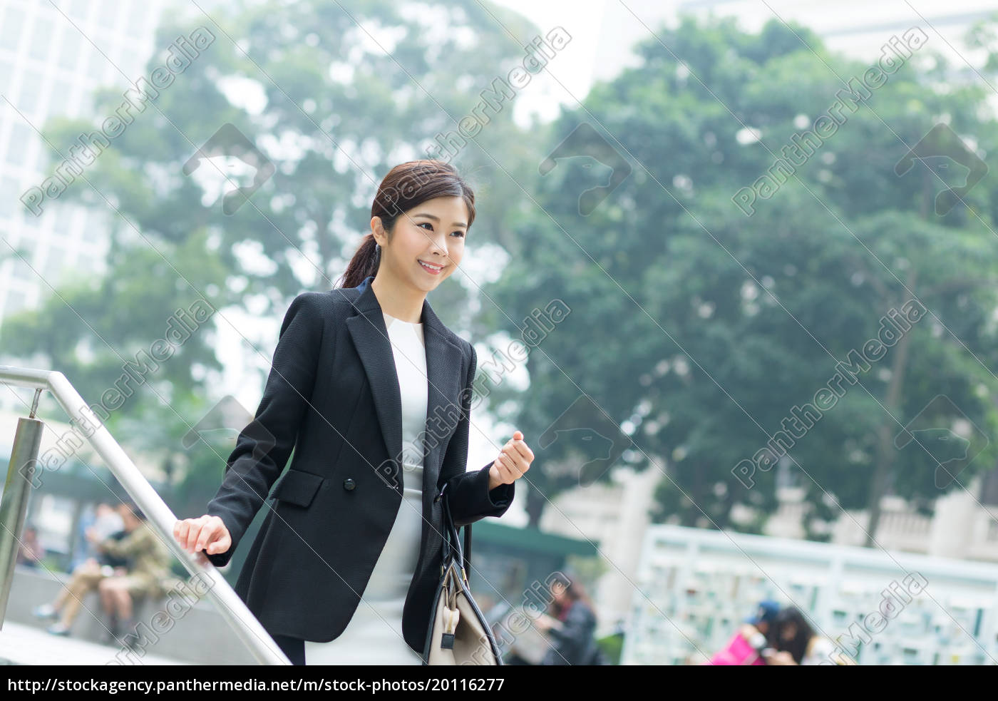 businesswoman, walking, down, the, step - 20116277