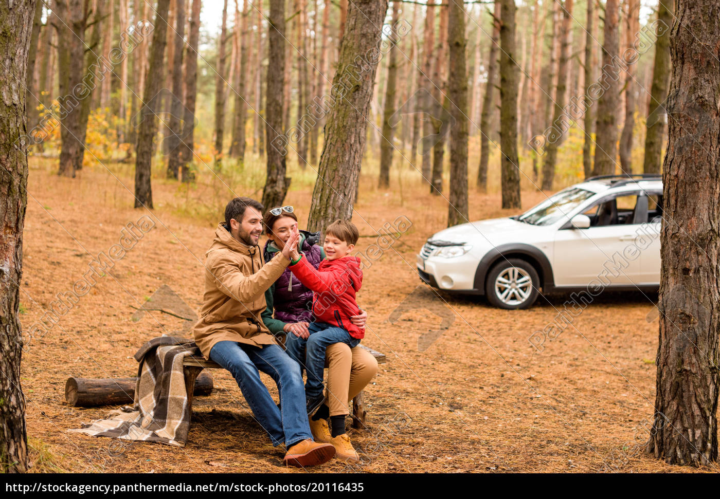 happy, family, in, autumn, forest - 20116435