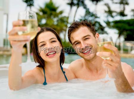 having, fun, in, jacuzzi - 20116213