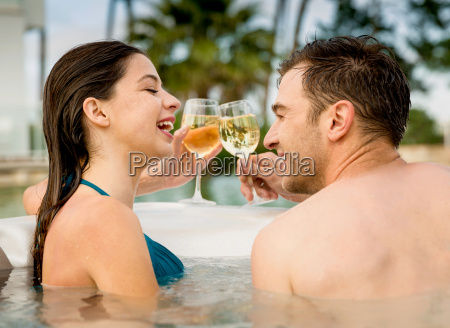 having, fun, in, jacuzzi - 20116361