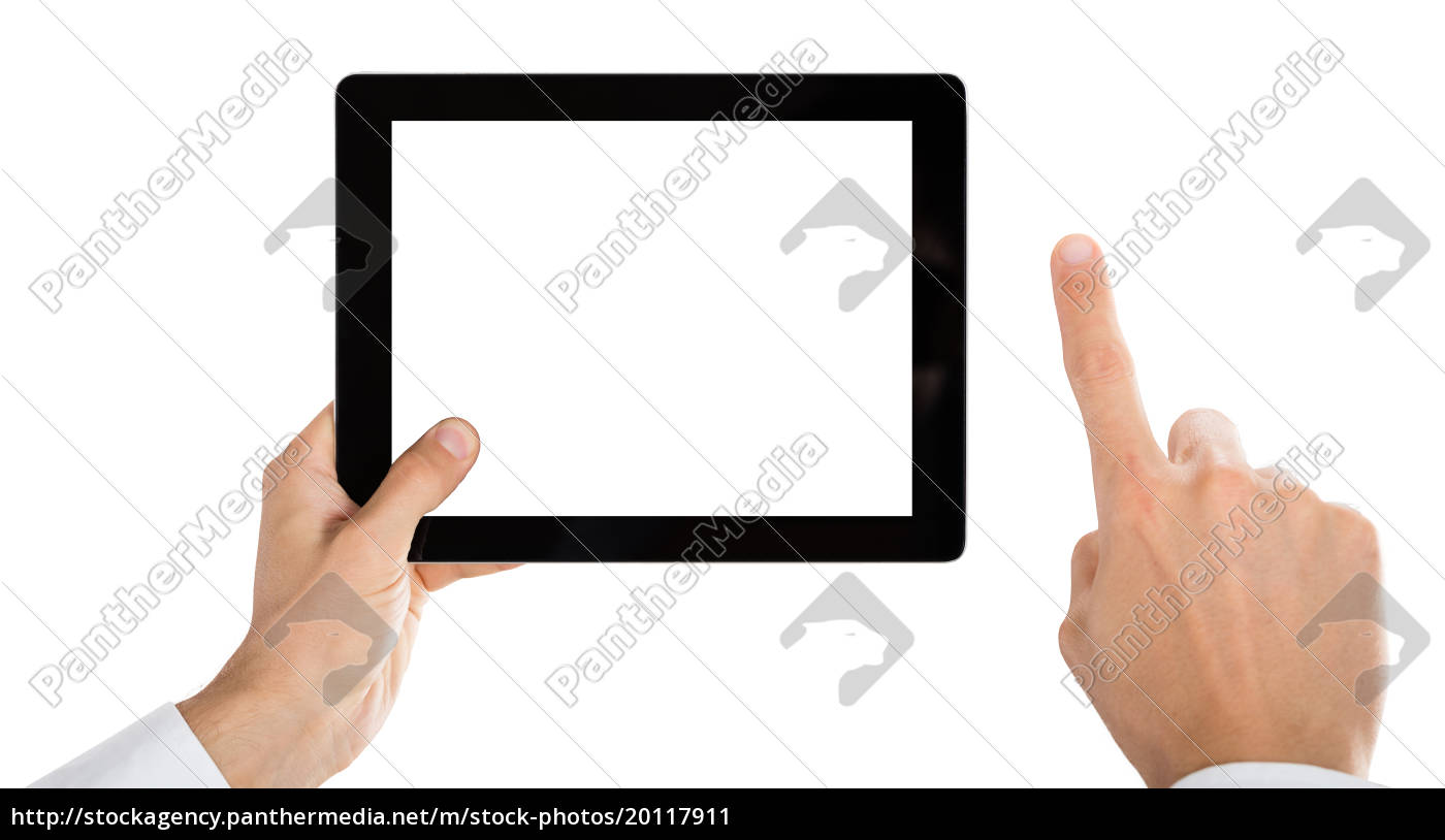 person, hand, holding, digital, tablet - 20117911