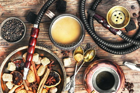 shisha, with, coffee, and, spices - 20117253