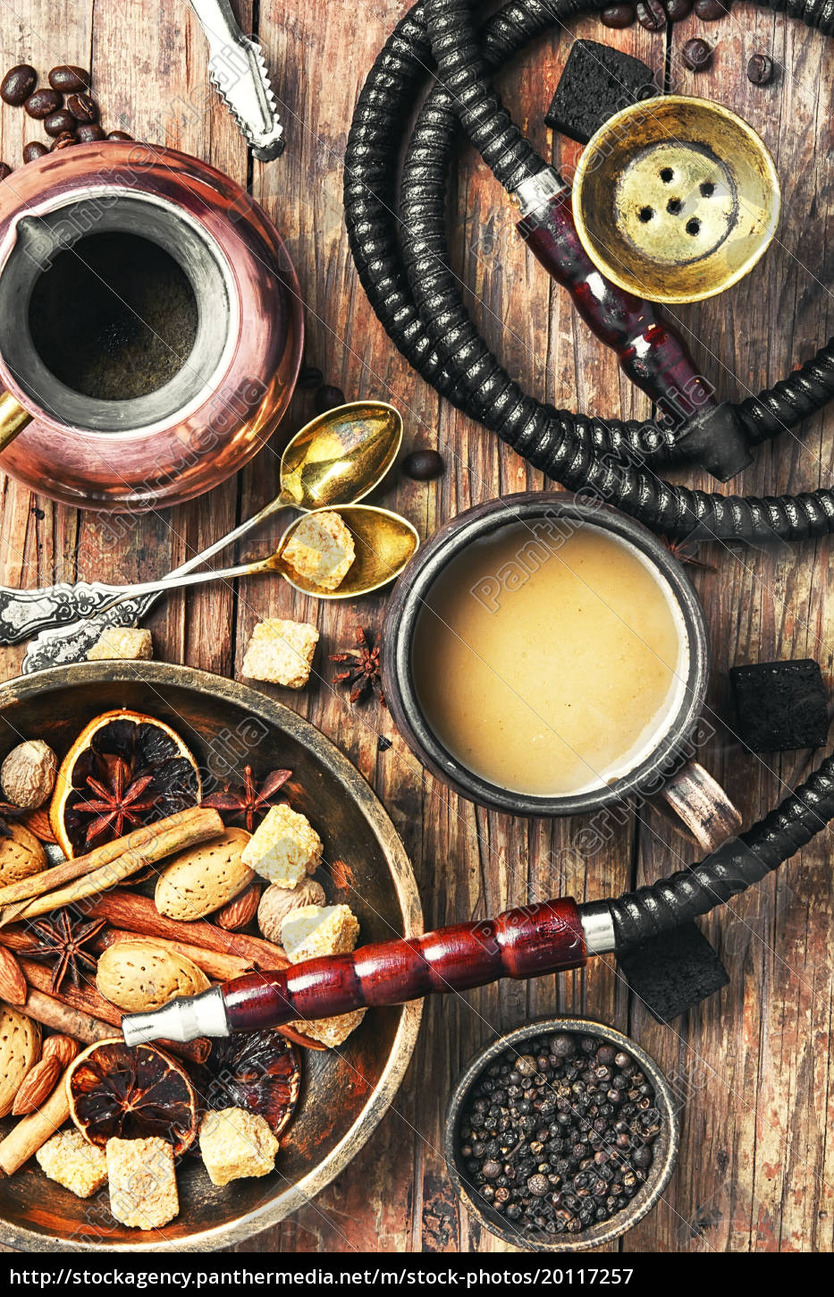 shisha, with, coffee, and, spices - 20117257