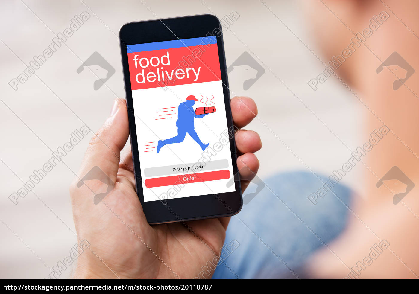 smart, phone, showing, food, delivery, application - 20118787
