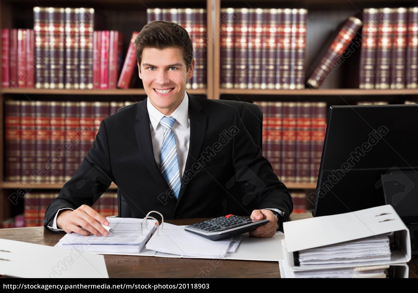 successful, male, accountant, calculating, invoice - 20118903