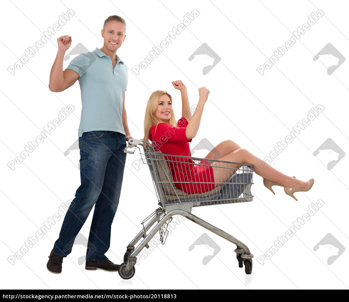 young, couple, with, a, shopping, trolley - 20118813