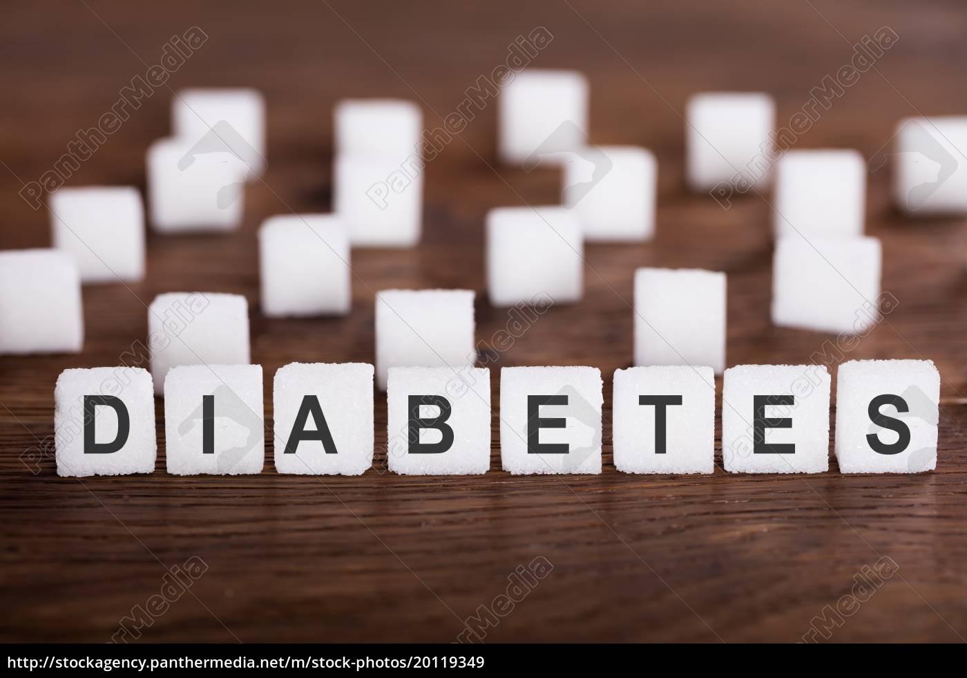 diabetes, text, on, sugar, cubes - 20119349