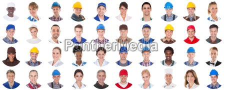 group, of, workers, on, white, background - 20119039