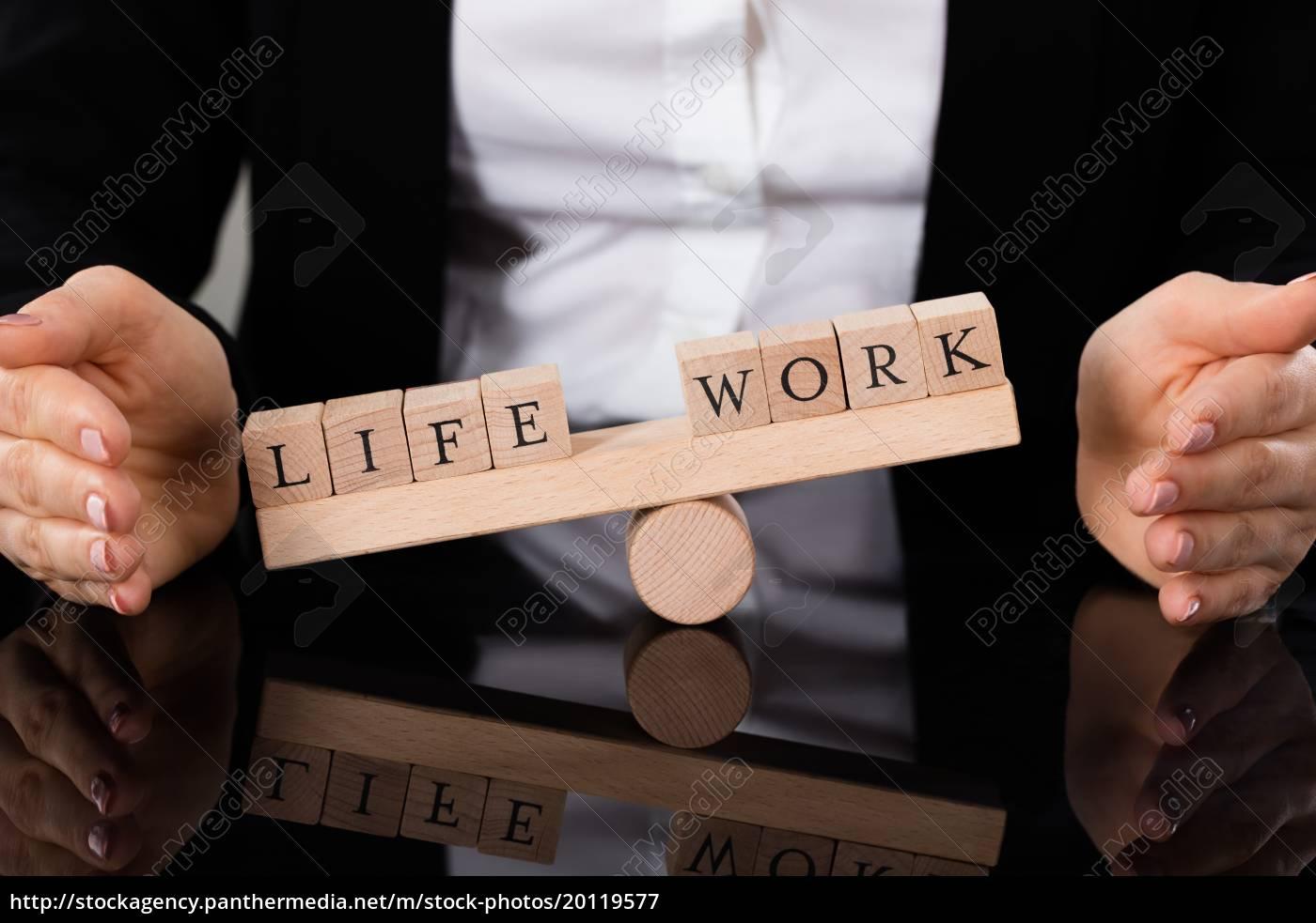 life, and, work, blocks, balancing, on - 20119577
