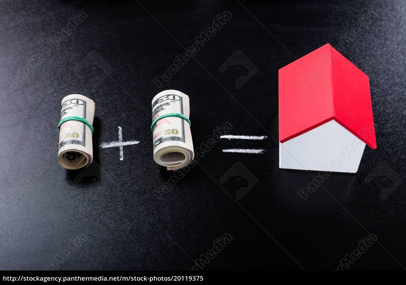 money, equation, on, blackboard - 20119375