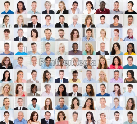collage of a smiling people