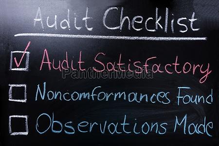audit, checklist, on, blackboard - 20125271