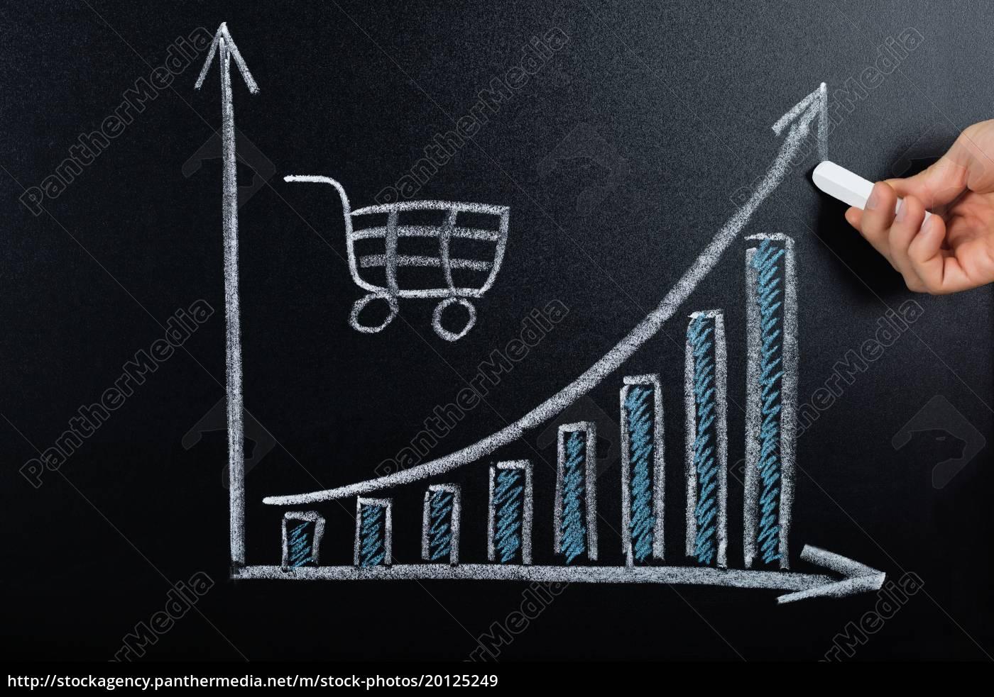e-commerce, concept, drawn, on, blackboard - 20125249