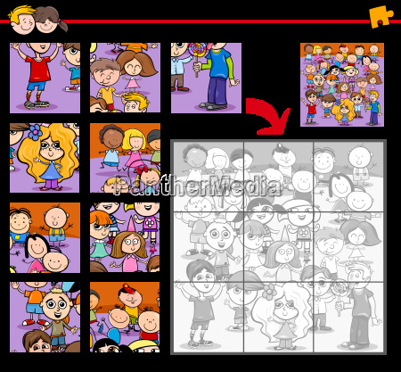 jigsaw puzzle with children
