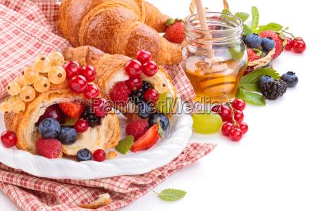 fresh, croissants, and, honey. - 20128907