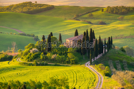 tuscany panoramic landscape italy