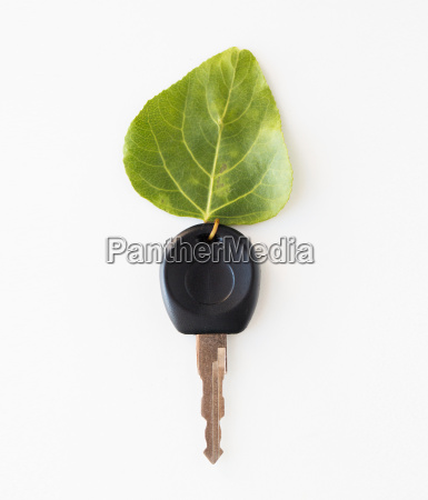 close up of car key and