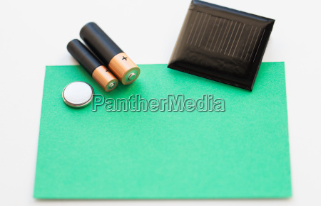 close up of alkaline batteries and