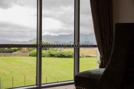 view from window to lanscape at