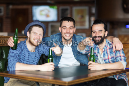 happy, male, friends, drinking, beer, at - 20152901