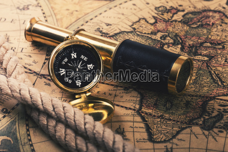 adventures concept vintage compass and