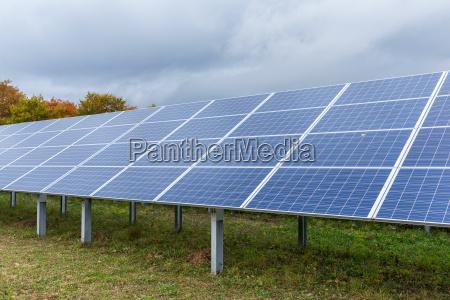 solar power panel plant