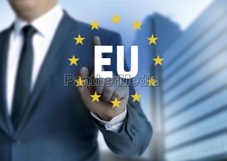 eu european union touchscreen concept