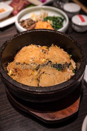 bibimbap heated stone bowl