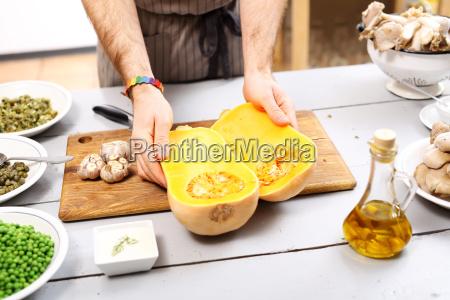 cooking pumpkin in the kitchen piece